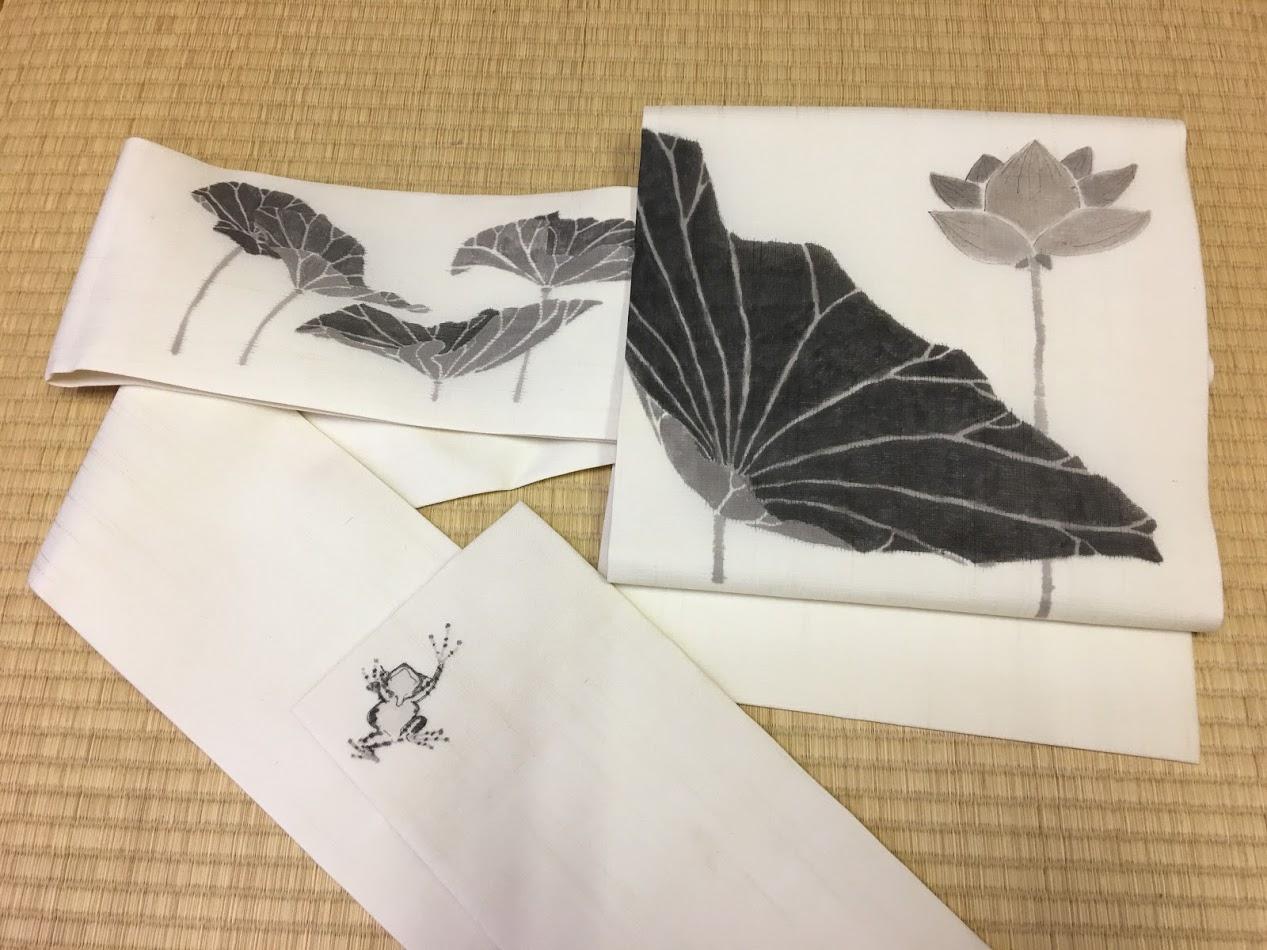 墨手描きの名古屋帯