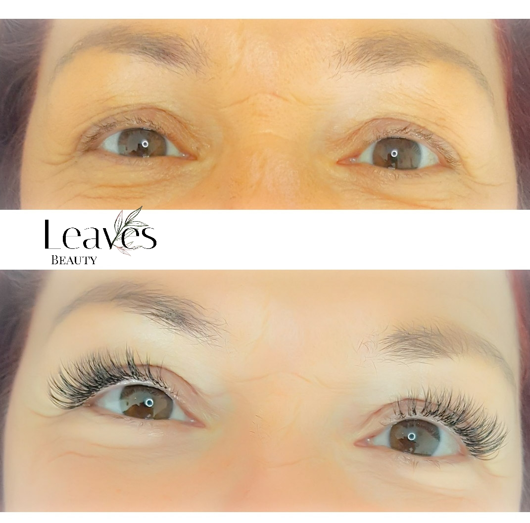 One by one lashes voor & na
