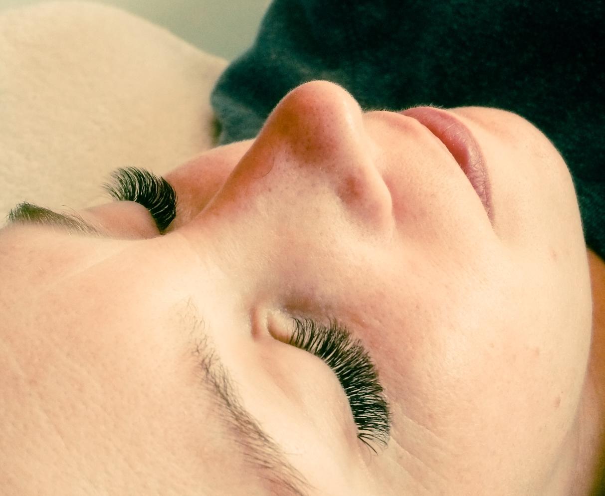 Na de wimper-behandeling: volume lashes