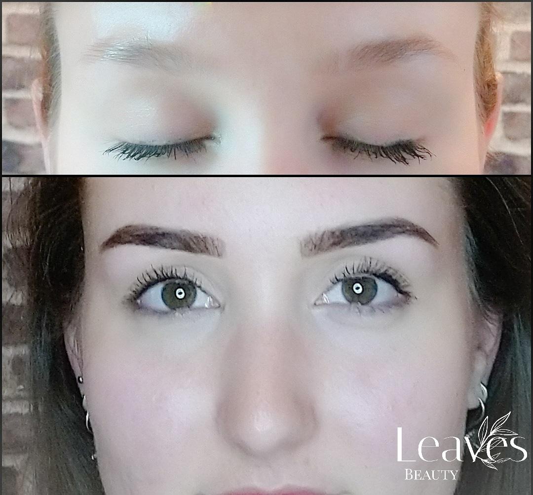 Henna brows voor & na