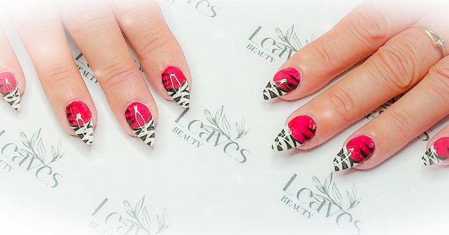 Stoere zebra nail art