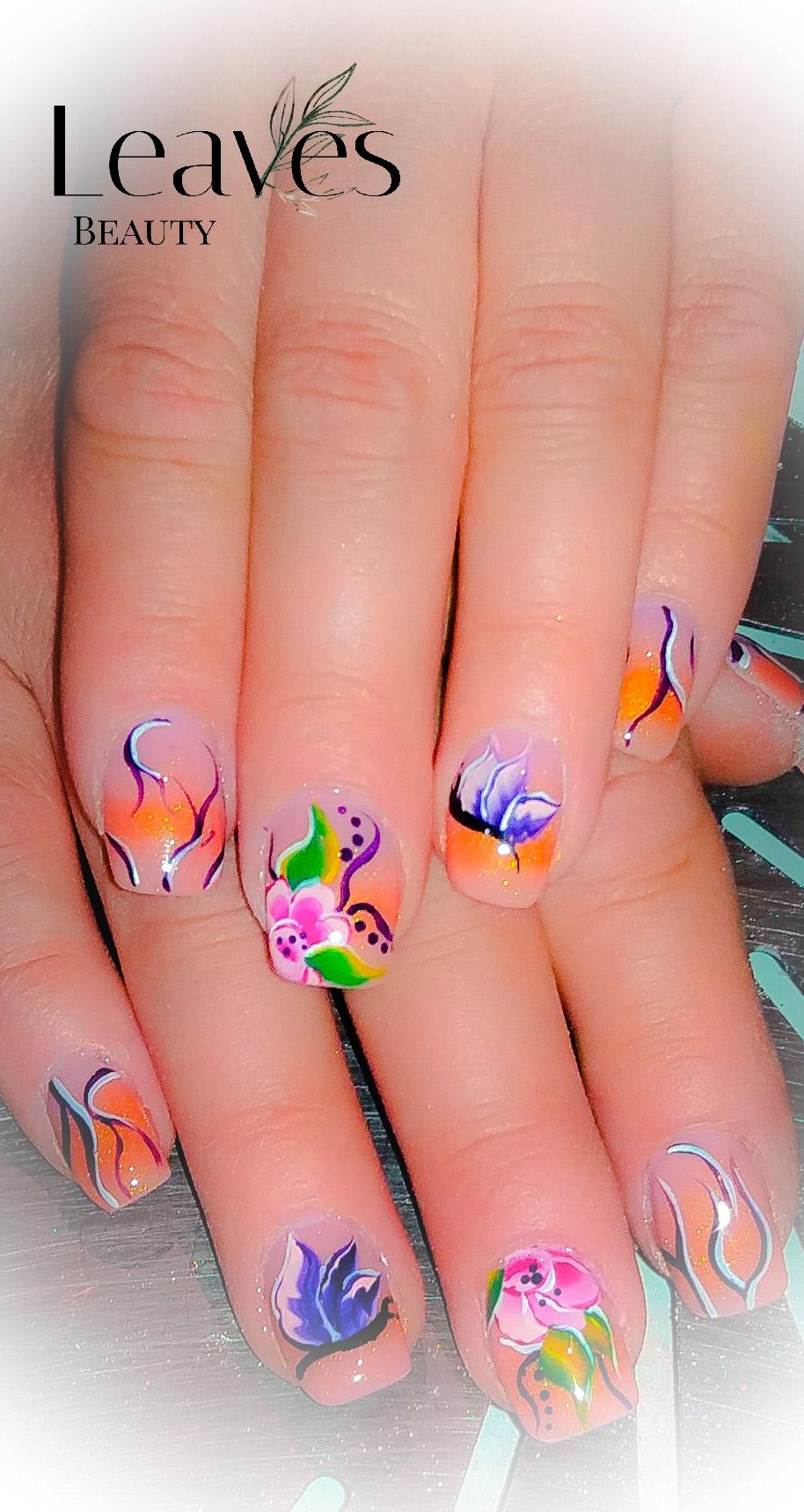 One stroke nail art