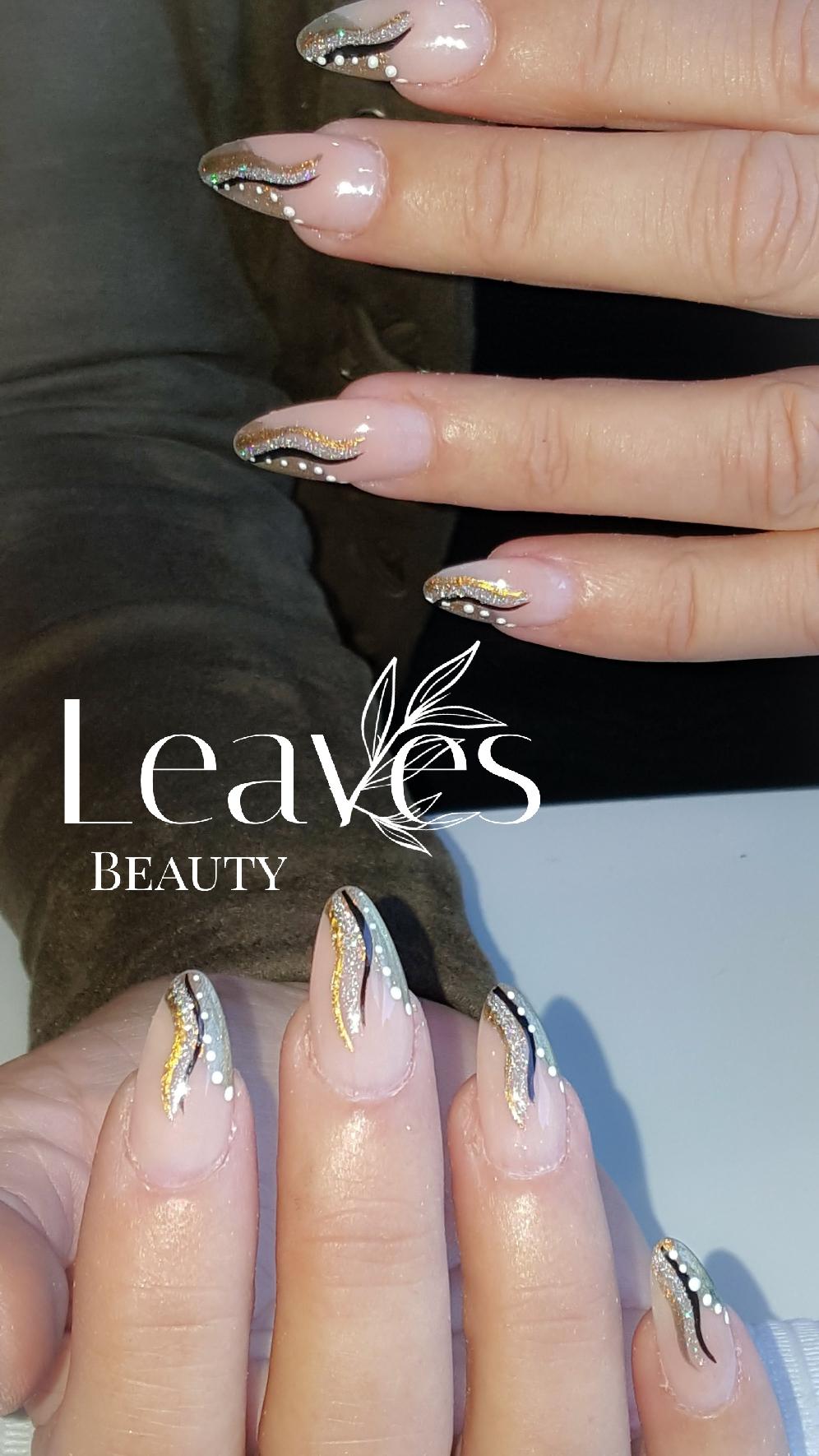 Acryl nagels met hand paint