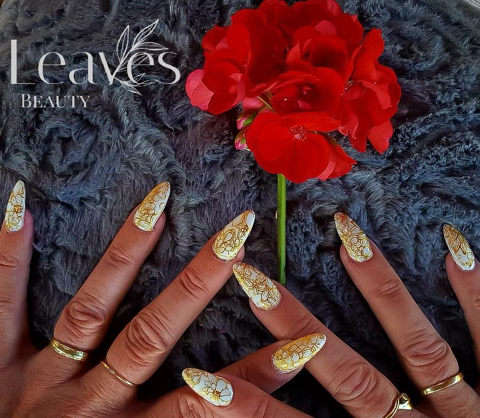 Acryl nagels met pre made art