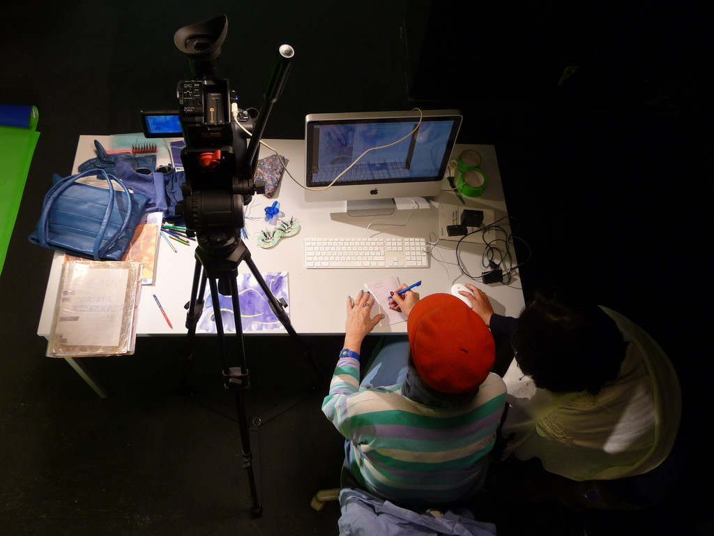 Bei der Arbeit am Animationstisch