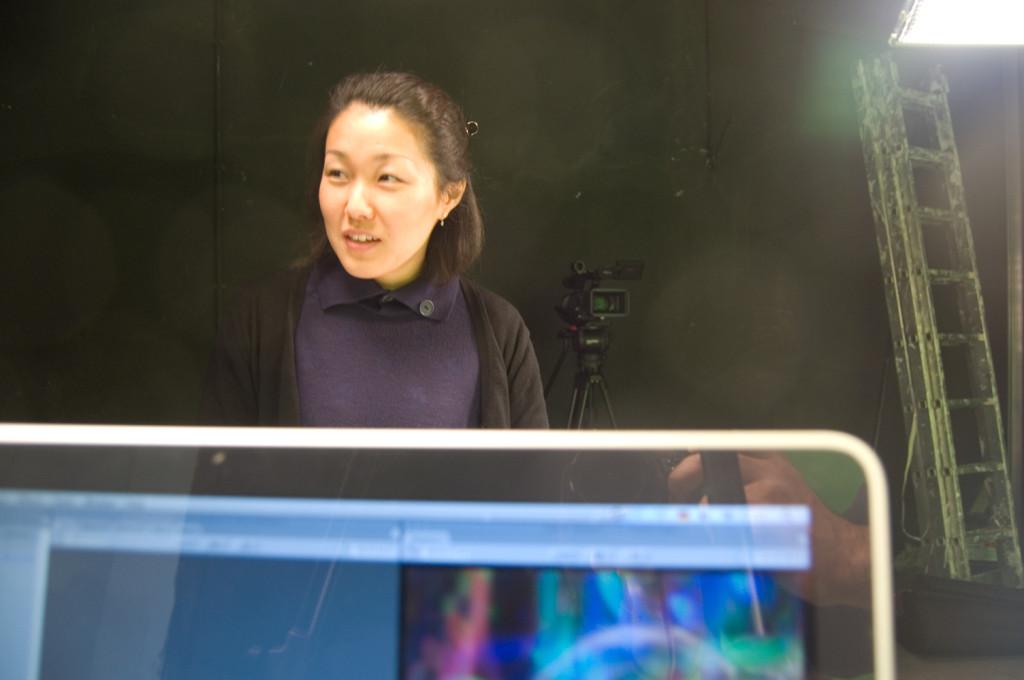 Aki Suzuki aus Japan- Praktikantin in der Medienwerkstatt