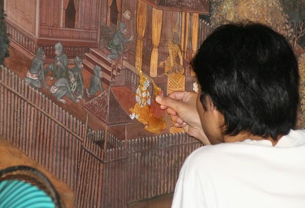 Freskenzyklus, im Ramakien - Wandelgang Wht Phra Kaeo