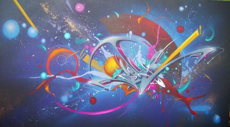 kendo peinture fraiche graffiti bordeaux