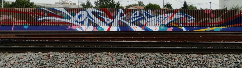 fresque murale Bordeaux SNCF