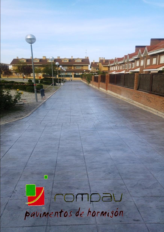 Hormigon impreso Comunidad propietarios Valdemoro Madrid