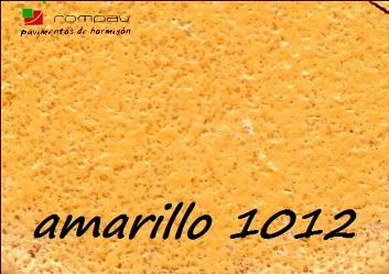 hormigon impreso color amarillo 1012