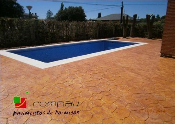 piedra irregular Hormigón impreso para piscinas