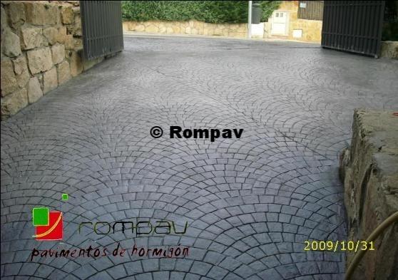 Rampas de garajes guadalajara suelos hormig n impreso - Hormigon impreso galicia ...