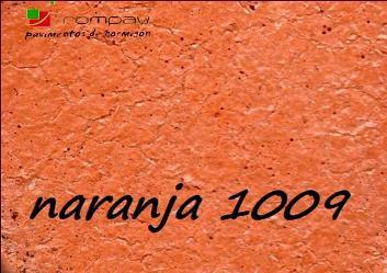 suelos de hormigon impreso color naranja 1009
