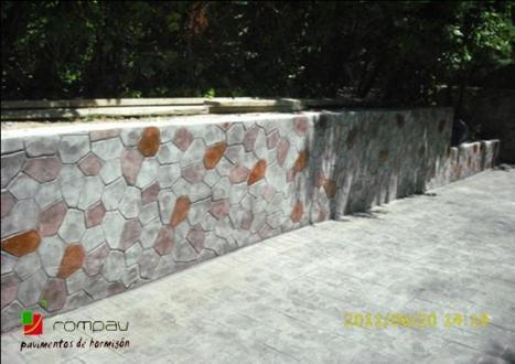 impreso vertical textura piedra irregular