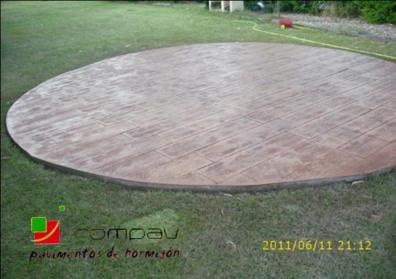 hormigon impreso madera Guadalajara