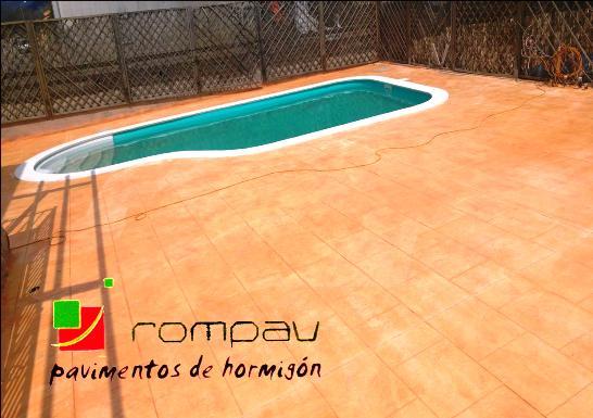 hormigon impreso piscina Alpedrete