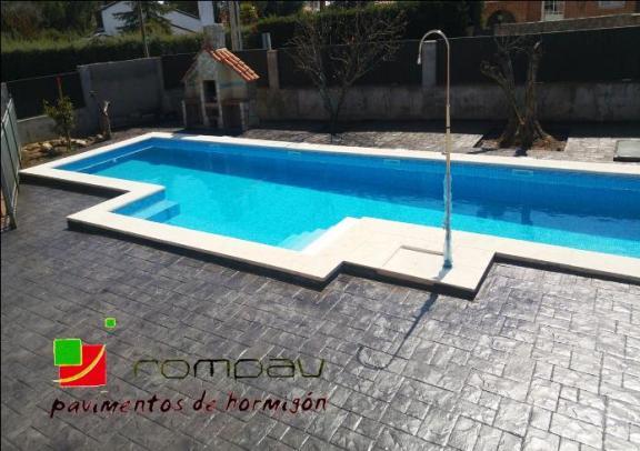 piscina hormigon impreso alicante
