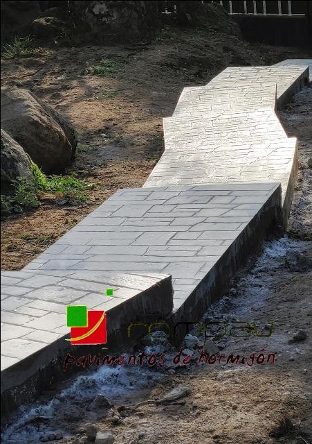 escaleras hormigón impreso valdemorillo