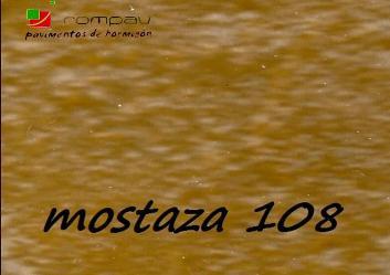 soleras impresas color mostaza 108