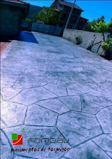 hormigon impreso piedra de granja