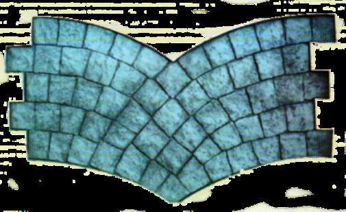 molde doble abanico