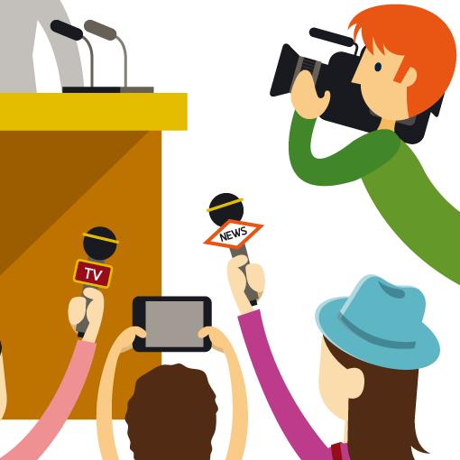 ライター、カメラマン、アナウンサー