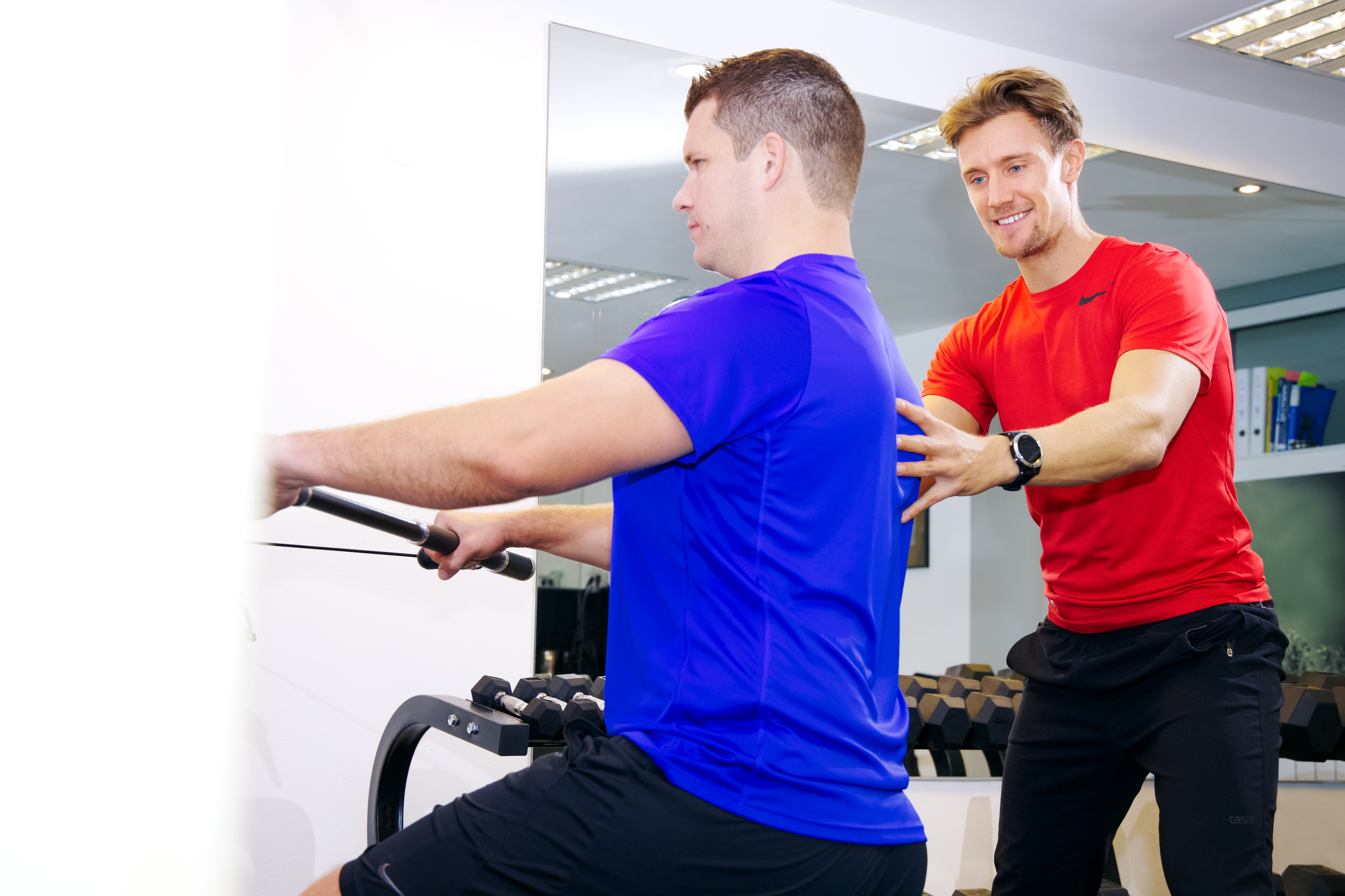 Personal Training Krafttraining Peter Simon, Clemens Delpin
