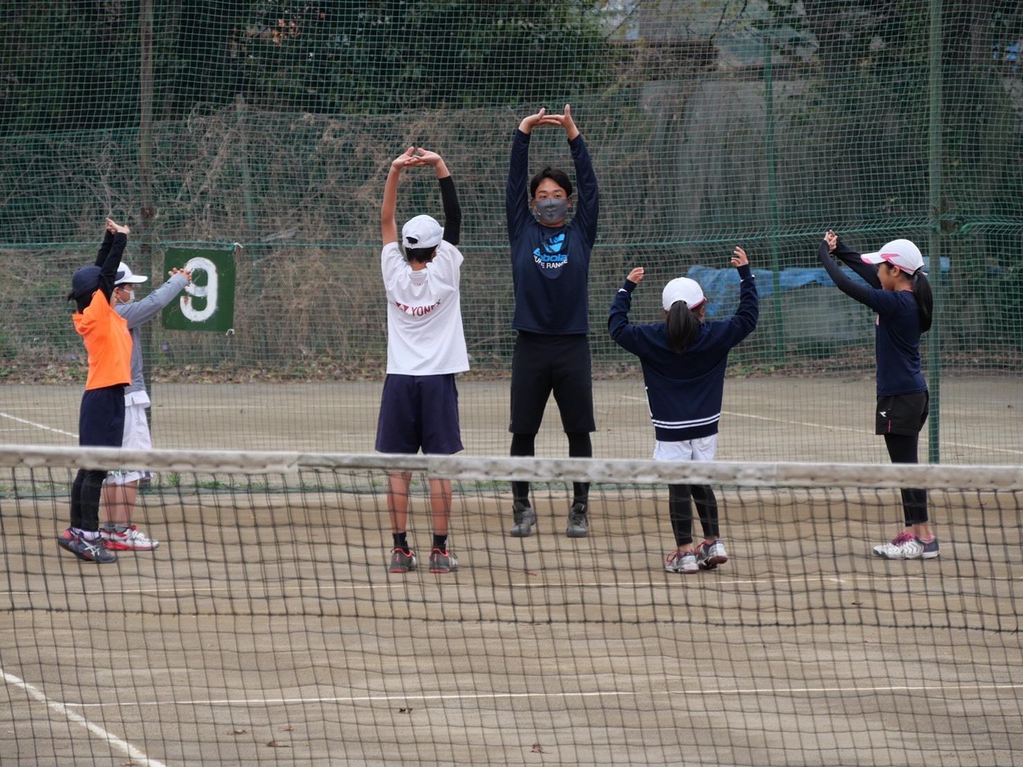 むさしの村ローンテニスクラブ交流会 正林知大プロとジュニア選手