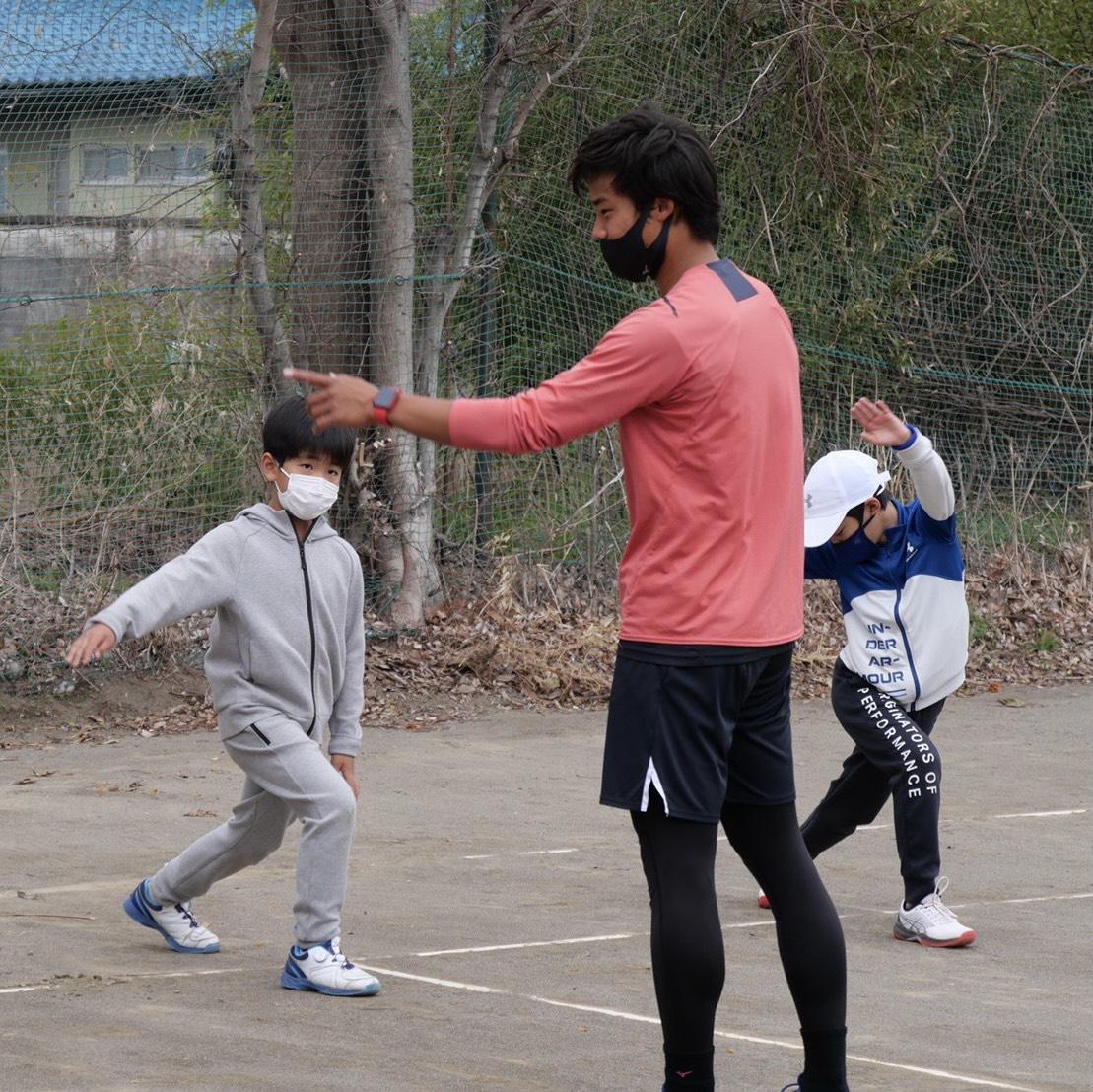 むさしの村ローンテニスクラブ交流会 住澤大輔プロとジュニア選手