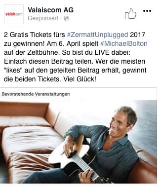 Zermatt unplugged Tickets gewinnen