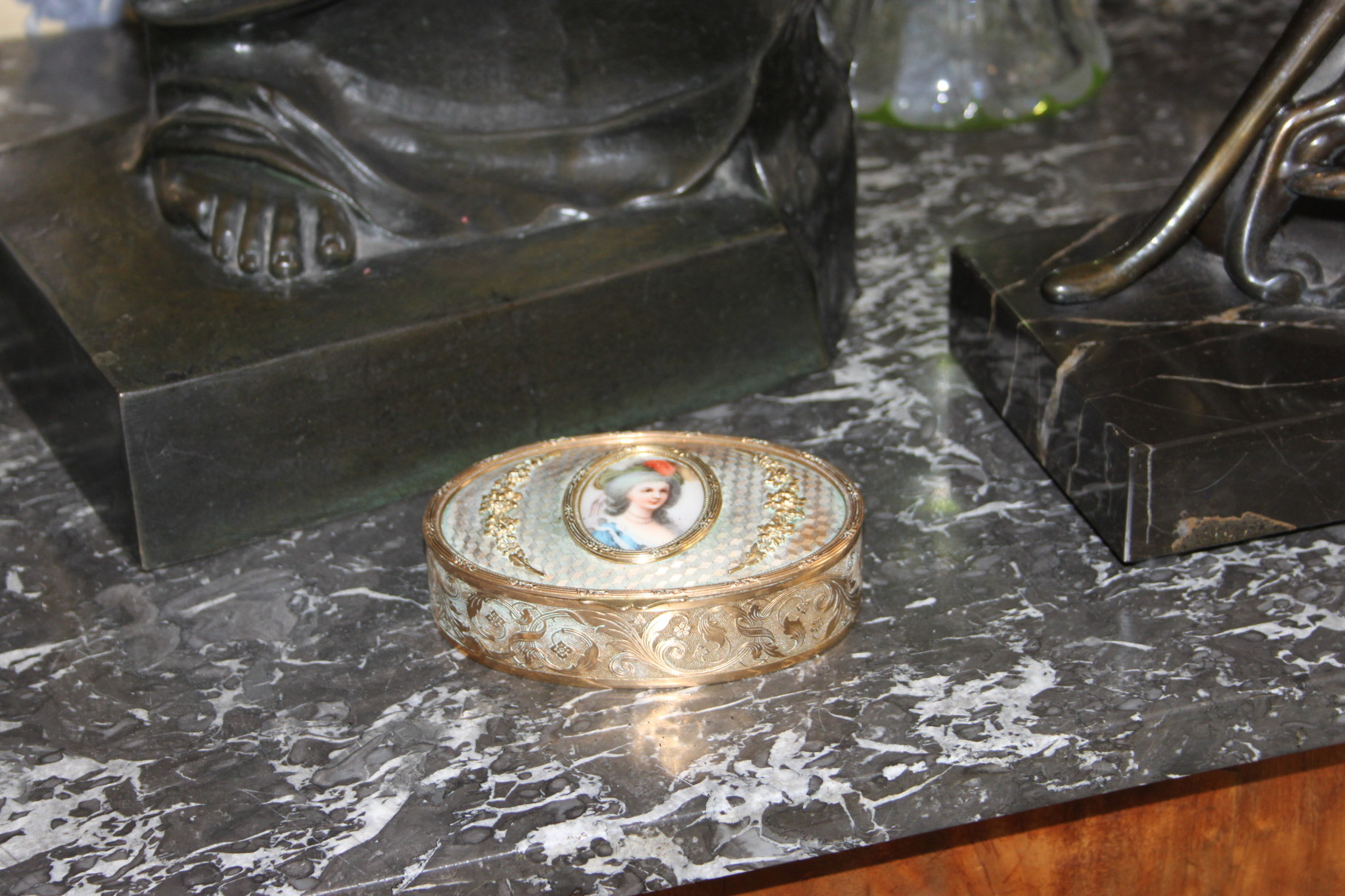 boite bronze miniature peinture