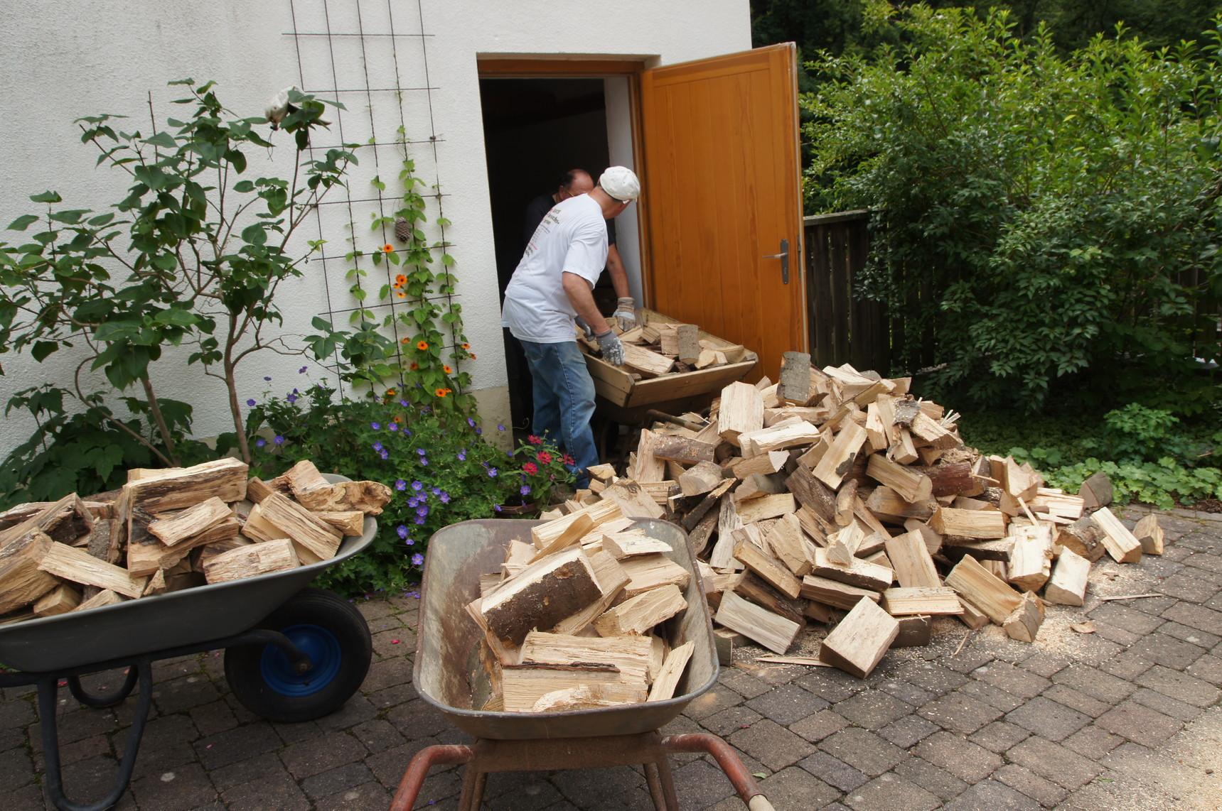 Holz zum Hochstapeln