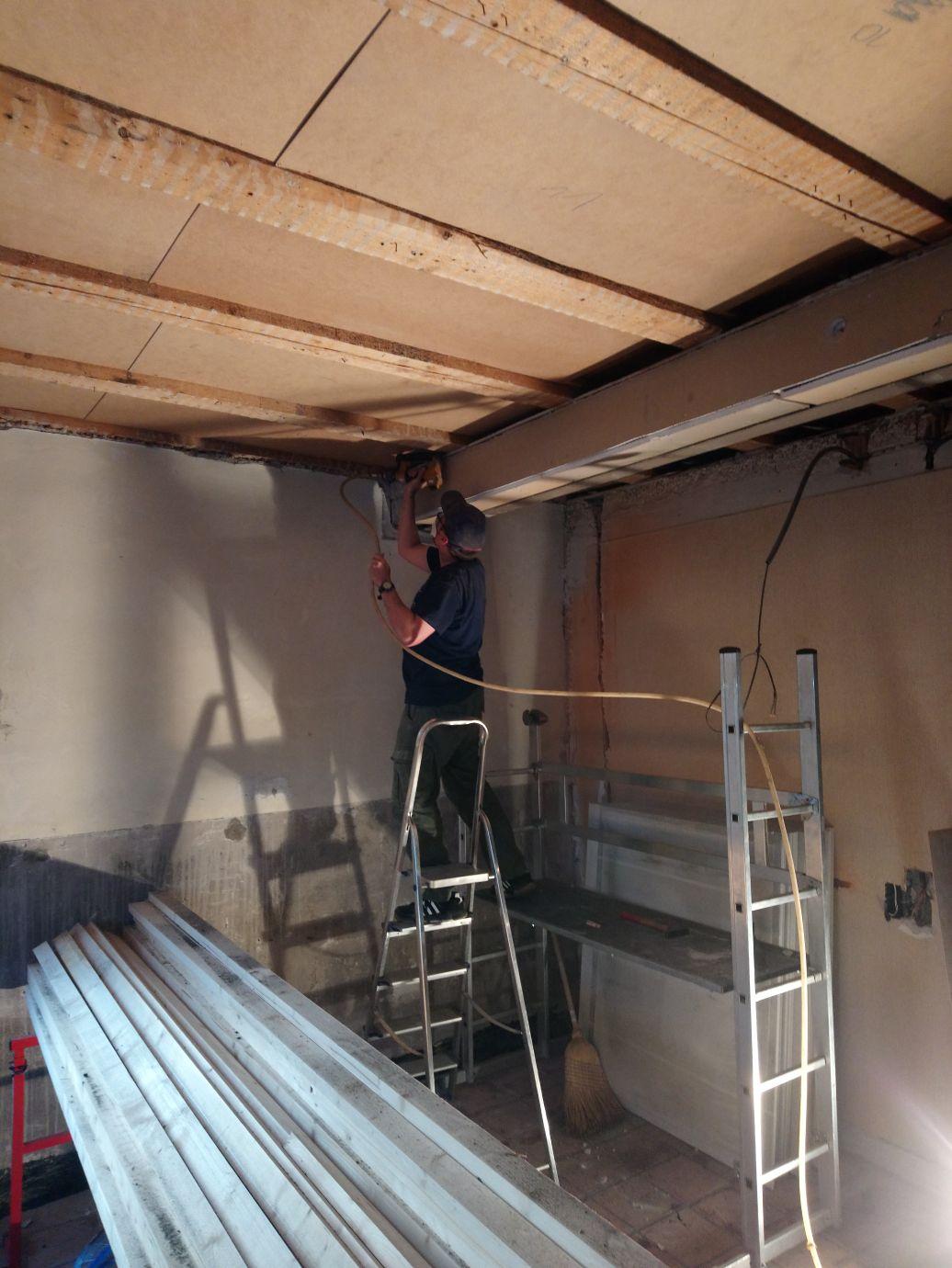 Während dem Aufbau (Tag 20)