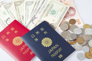 日本パスポート、タイバーツ、