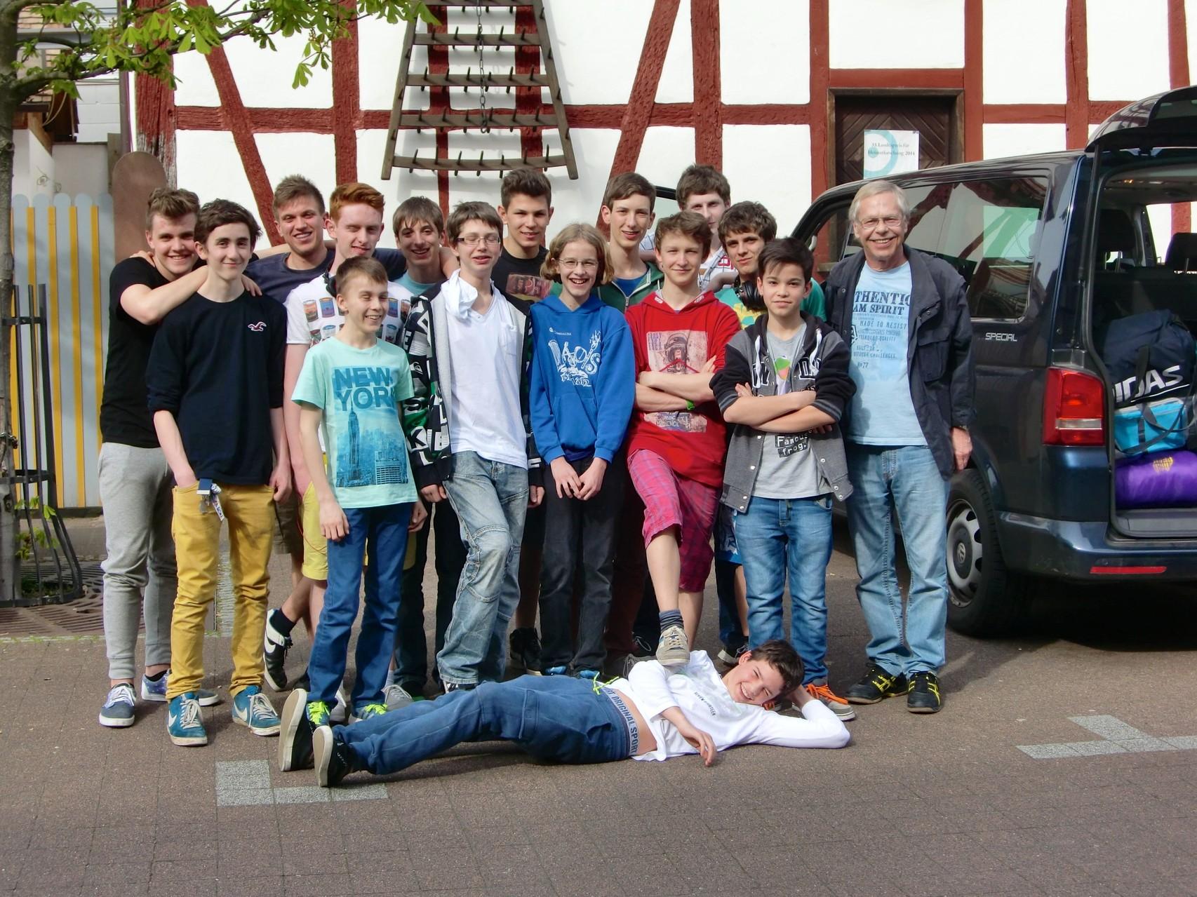 Abfahrt unserer Truppe zur Jugend-DM 2014 nach Haltern