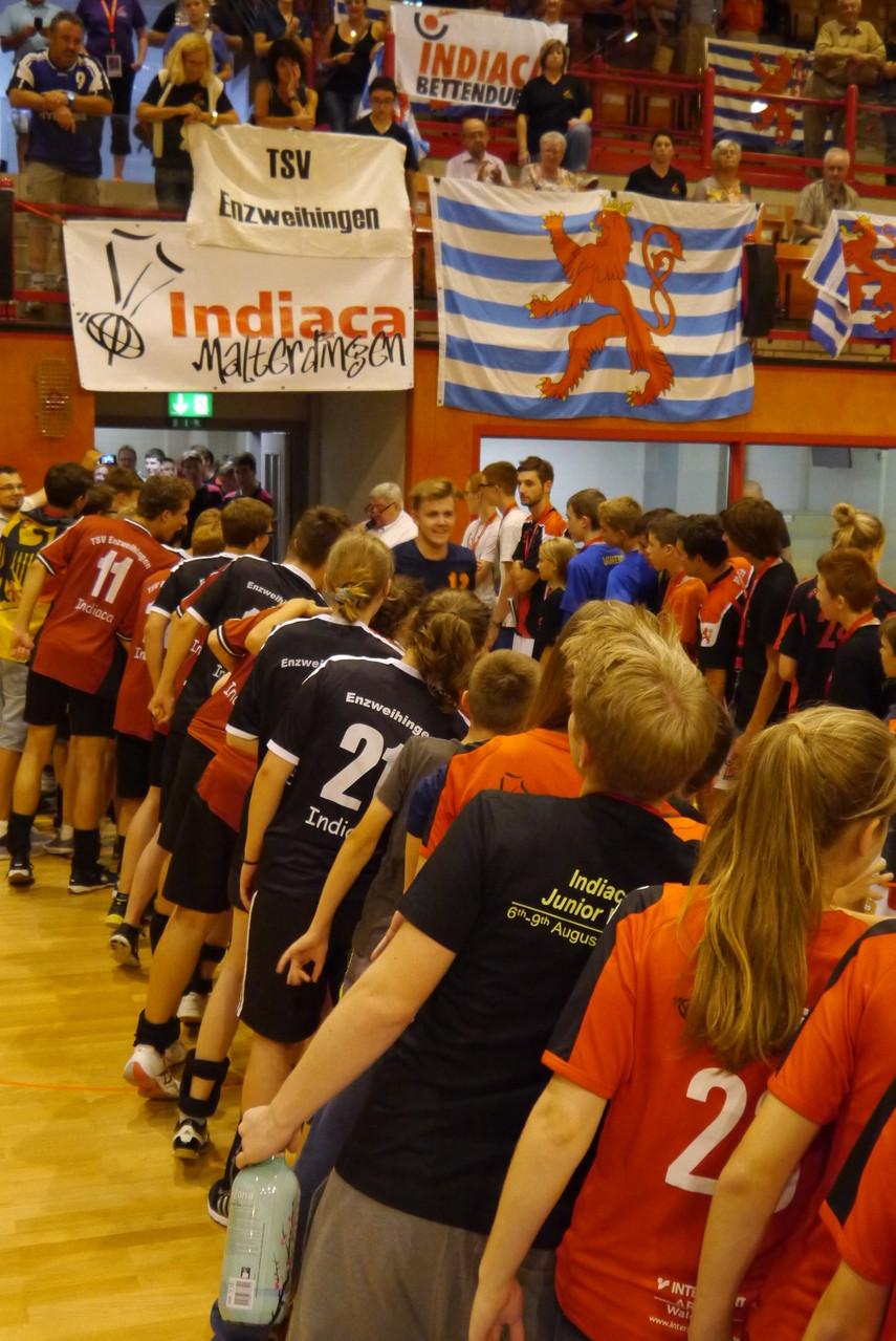 Die Deutschen Mannschaften standen Spalier (Juraj)