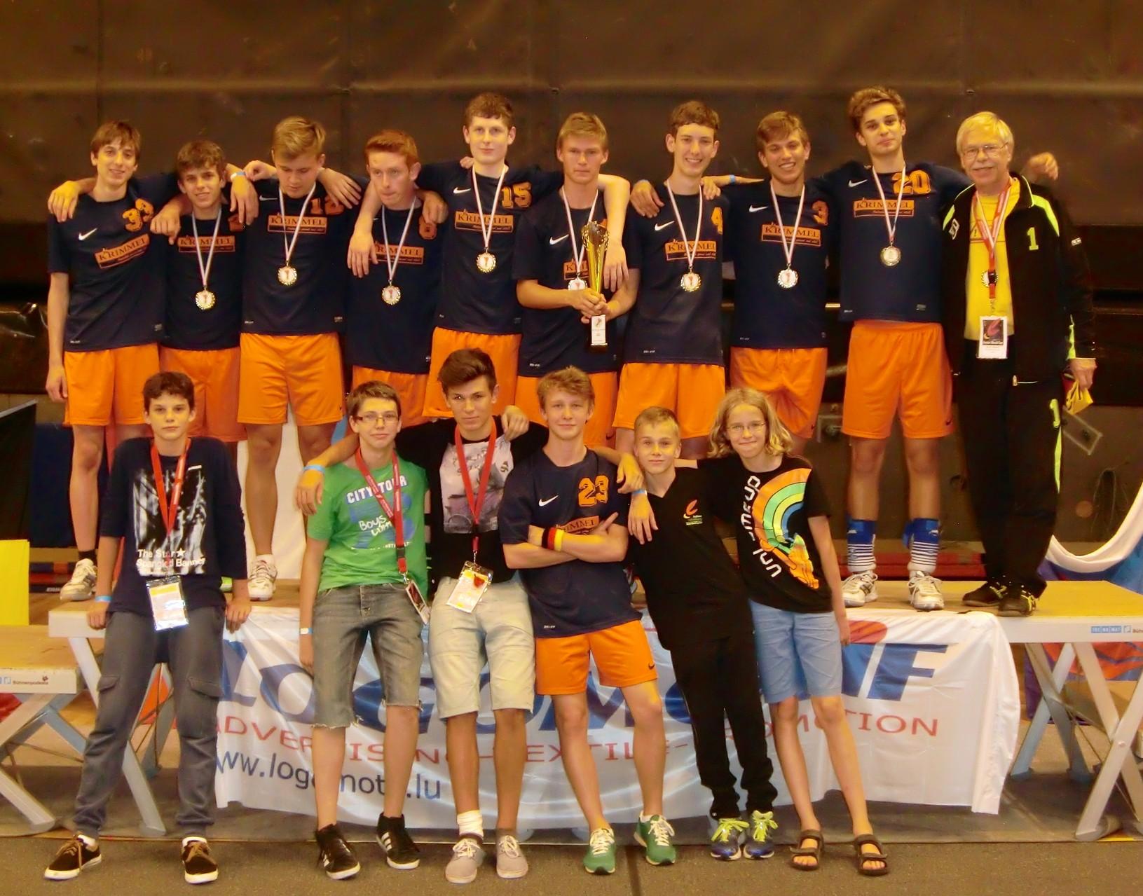 Die Blankenlocher Teilnehmer in Luxemburg (Samuel war schon weg)