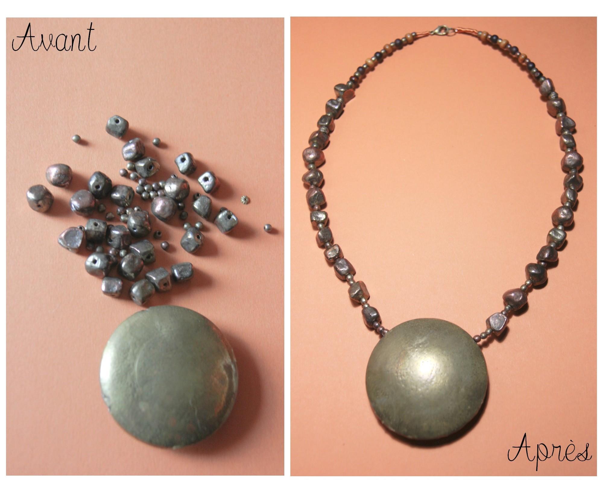 Ajout de perles et remontage pour ce collier!