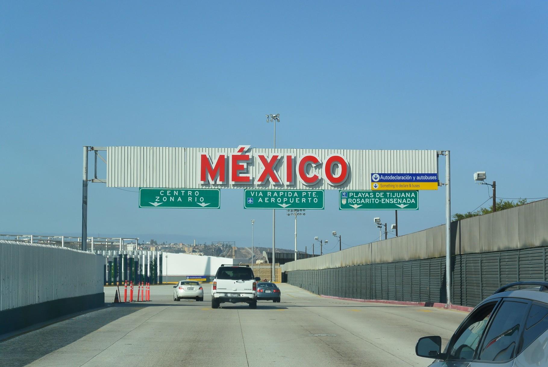 Arrivée à la frontière