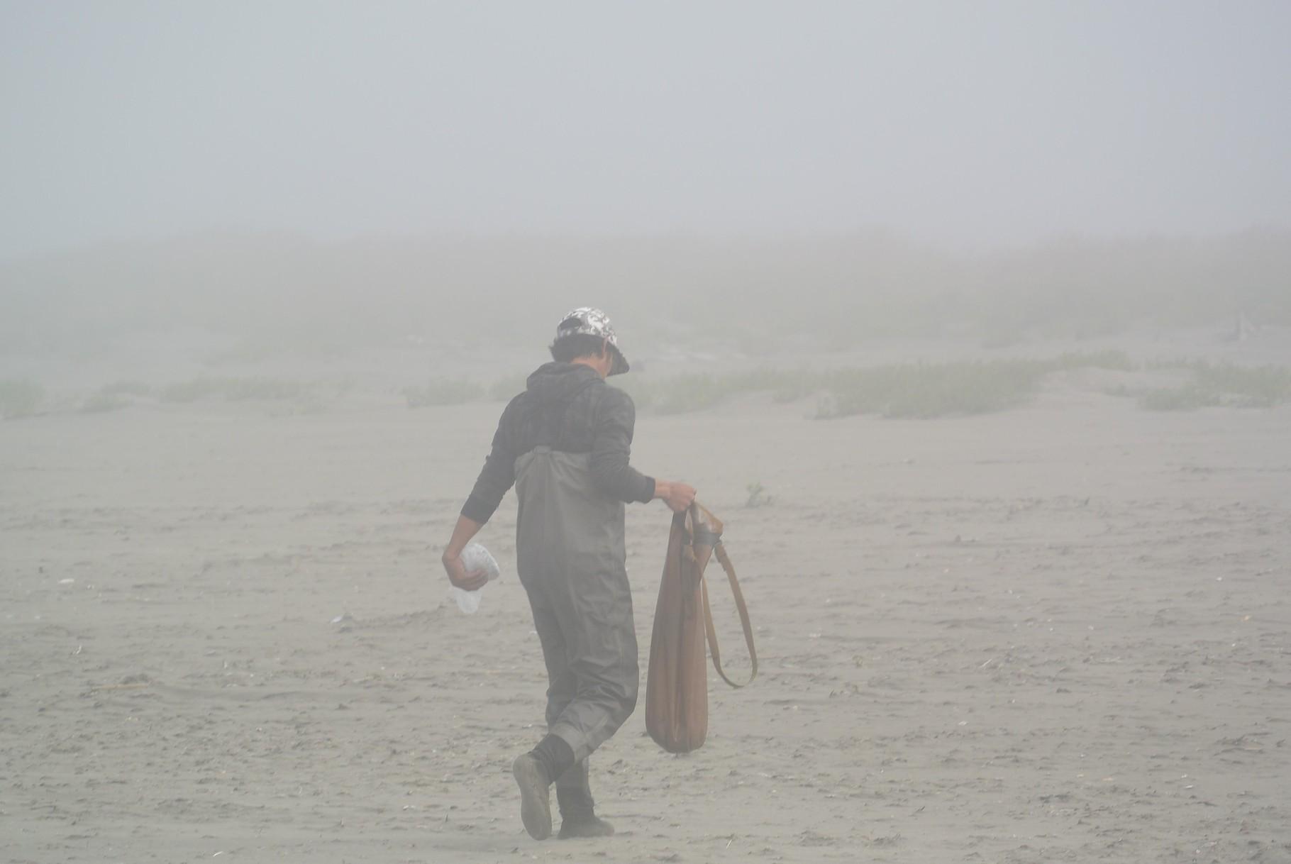 pêcheur de Copalis Bay