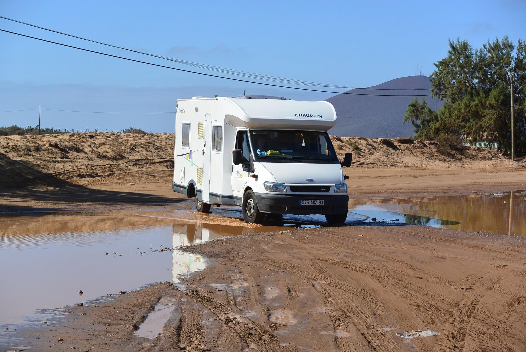 Les routes en mauvaises état commencent.....