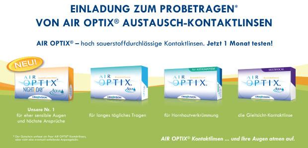 Neu bei Optik Menzel: Air Optix Night and Day Aqua