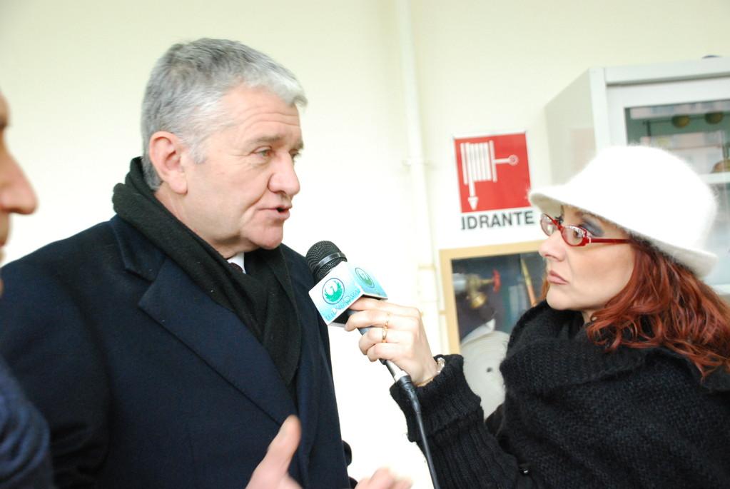 Il questore Antonio De Iesu intervistato dalla giornalista Patrizia Sereno di Telenuova