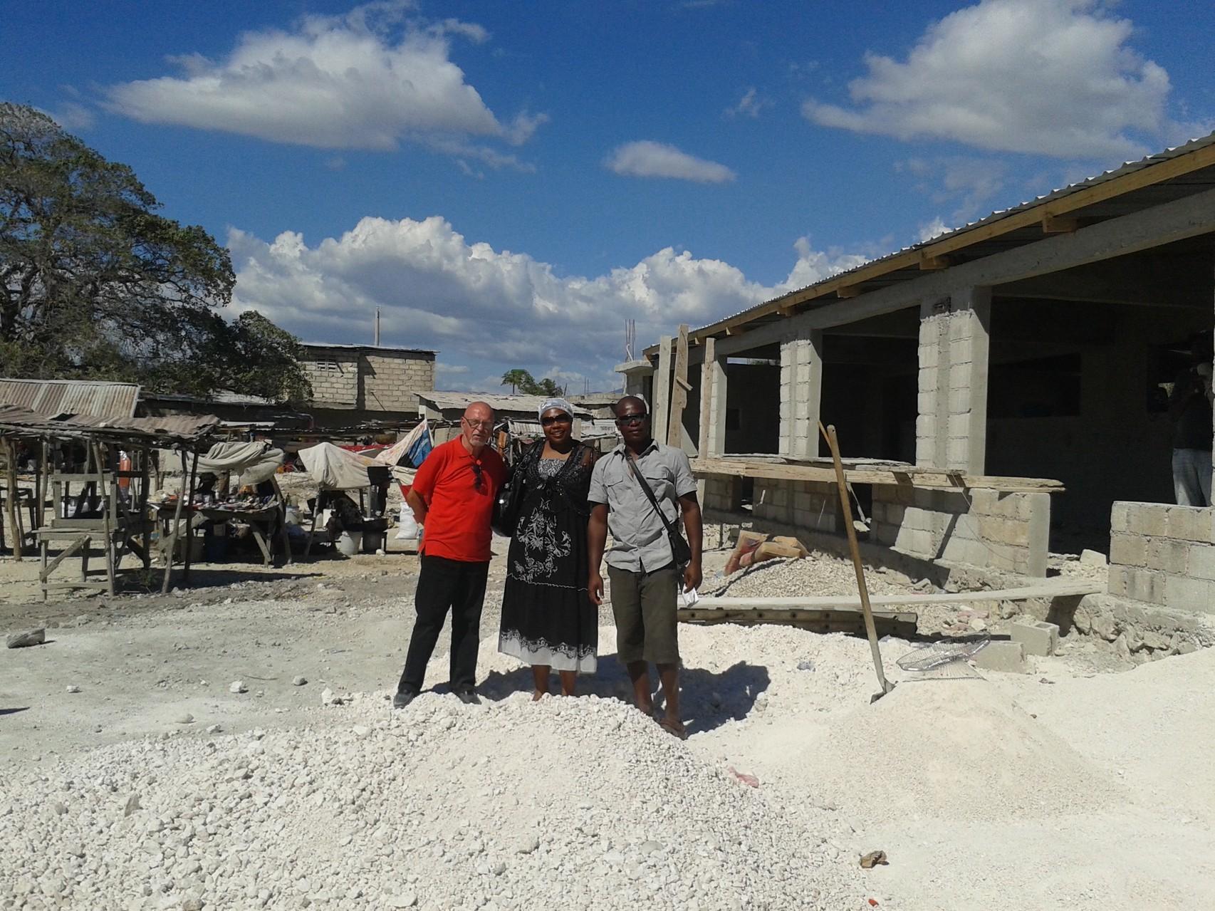 Visite du chantier d'un membre de l'association de paris Gérard THIRY