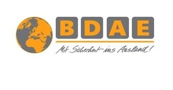 Logo BDAE Mit Sicherheit ins Ausland