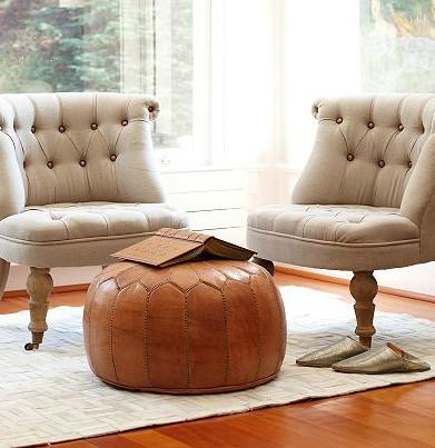 leder sitzkissen ledersitzkissen lederkissen pouf pouffe bodenkissen sitzhocker braun vintage. Black Bedroom Furniture Sets. Home Design Ideas
