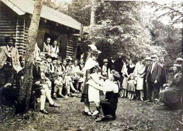Sommer 1931, Jagdhütte in Kohlers Gehau
