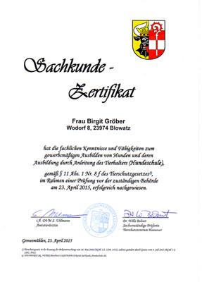 Sachkunde-Zertifikat