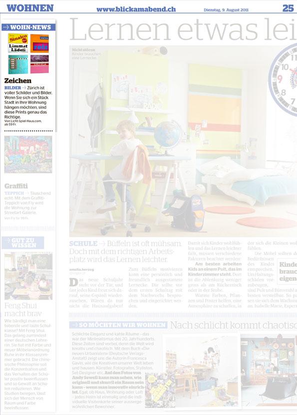 """Presseveröffentlichung """"NZZ am Sonntag"""", Stil Magazin vom 18.11.2012"""